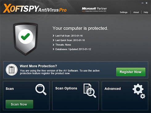 XoftSpySE Anti Spyware की तस्वीर