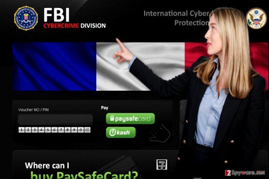 FBI Cybercrime Division वायरस की तस्वीर