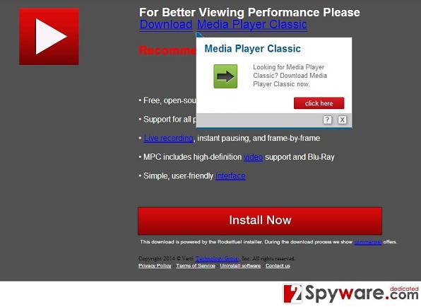 PcUpgradeNow.com पॉप-अप वायरस की तस्वीर