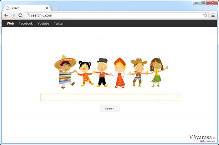 Searchiu.com वायरस की तस्वीर