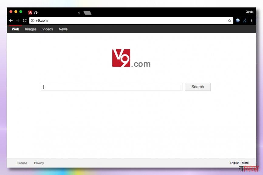 v9.com वाइरस की तस्वीर
